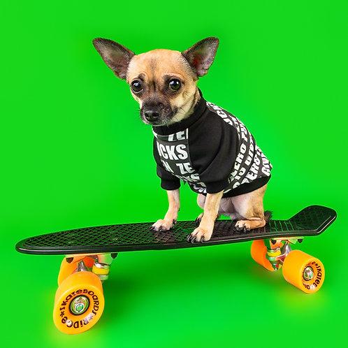 ZERO F'S GIVEN RAGLAN DOG TOP