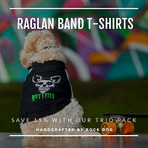RAGLAN BAND DOG T-SHIRT TRIO PACK