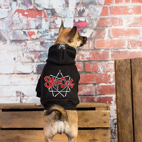 Slipknot dog hoodie as worn by chihuahua by Rock Dog