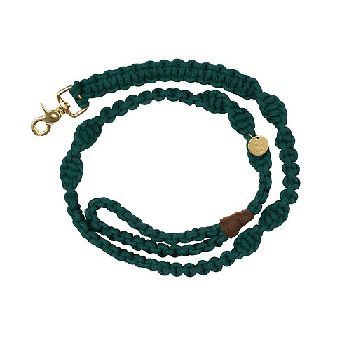 TEAL MACRAME DOG LEAD