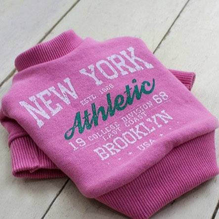 PINK NEW YORK ATHLETIC DOG SWEATSHIRT