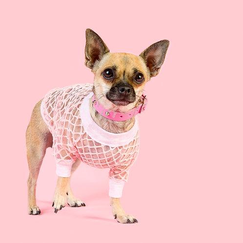 PINK MESH'N AROUND DOG TOP