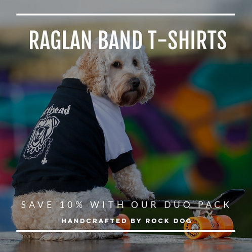 RAGLAN BAND DOG T-SHIRT DUO PACK