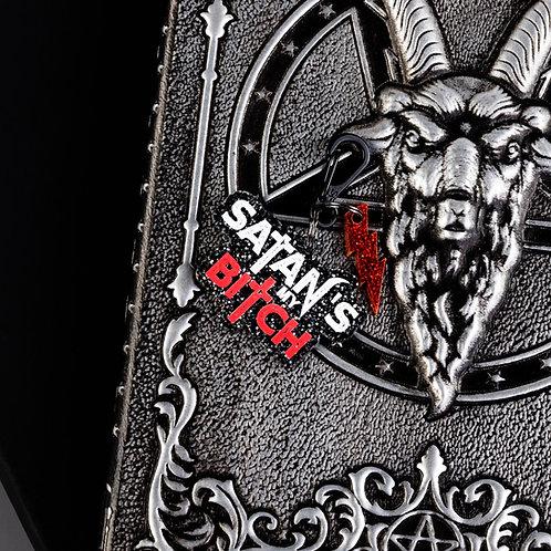 Satans my bitch dog tag, gothic dog tag, goth
