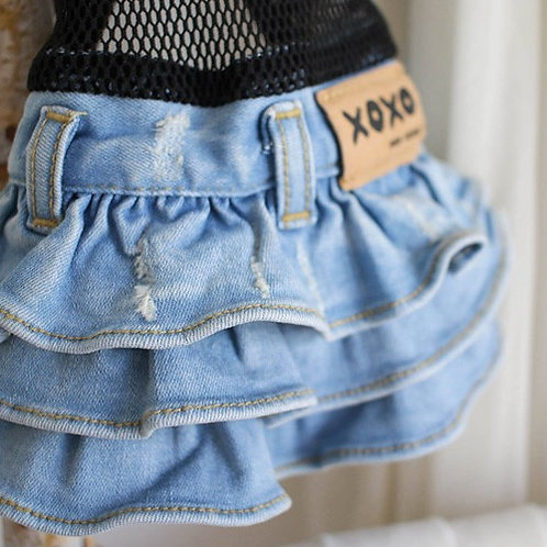 VINTAGE DENIM DOG SKIRT