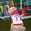 Thumbnail: WHITE/CERISE VARSITY CUSTOM DOG HOODIE