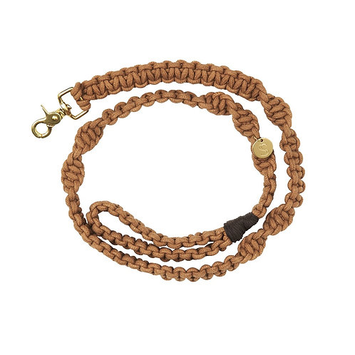 BISCUIT MACRAME DOG LEAD