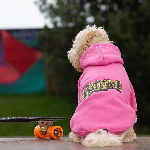 PINK BiTchIE LEOPARD PRINT DOG HOODIE