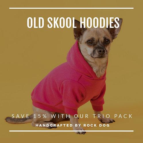 OLD SKOOL DOG HOODIE TRIO PACK