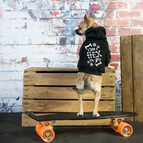 I BARK A HEX ON YOU DOG HOODIE