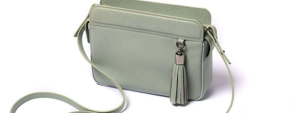 Small bag with tassel, Pink Mint