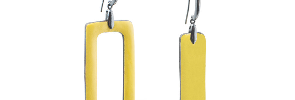 Earrings mix bright colors, silver hooks