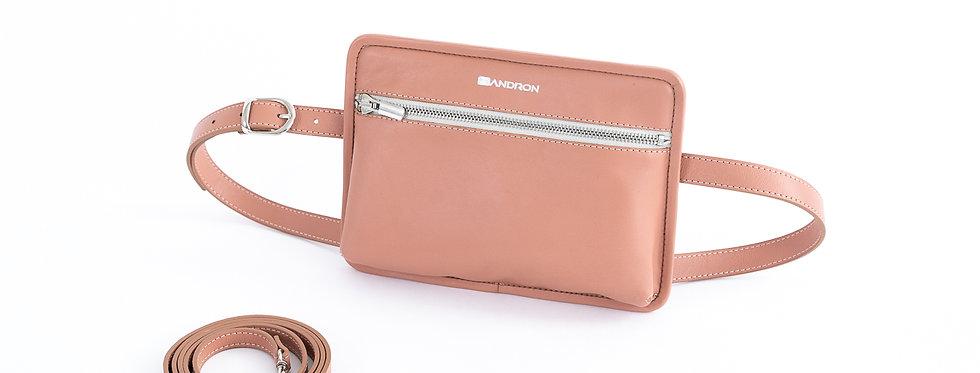 Belt & shoulder bag, Pink Mint