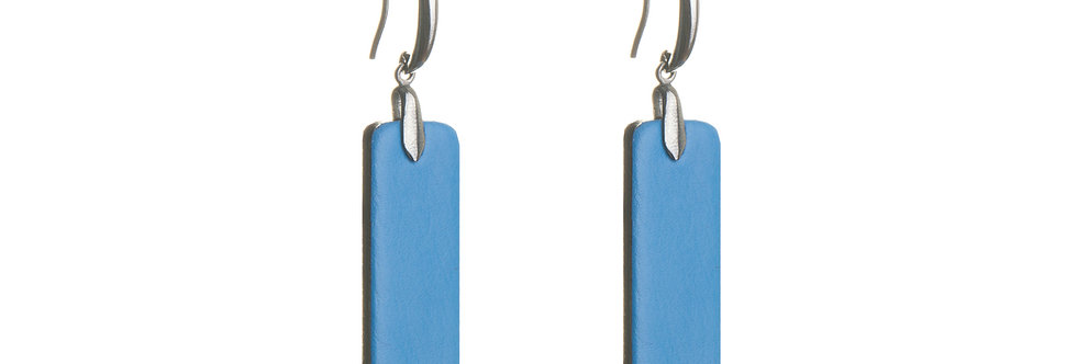 Earrings small bright colors, silver hooks