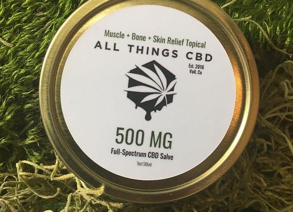 500mg of full spectrum CBD in 1 ounce
