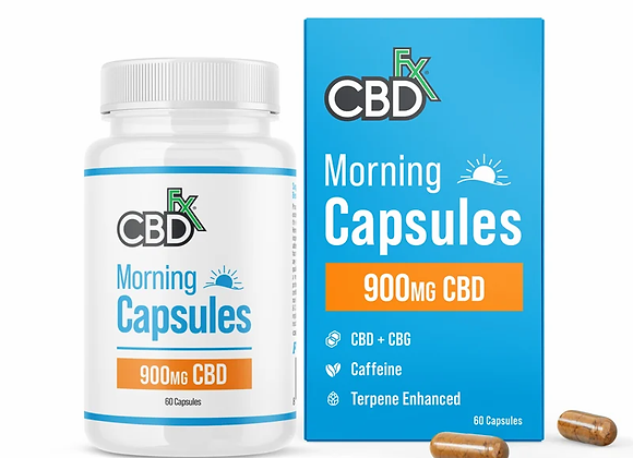 CBD + CBG Morning Capsules For Energy & Focus 900mg