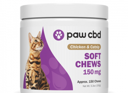 Pet CBD Soft Chews for Cats - Chicken & Catnip - 150 mg - 150 Count