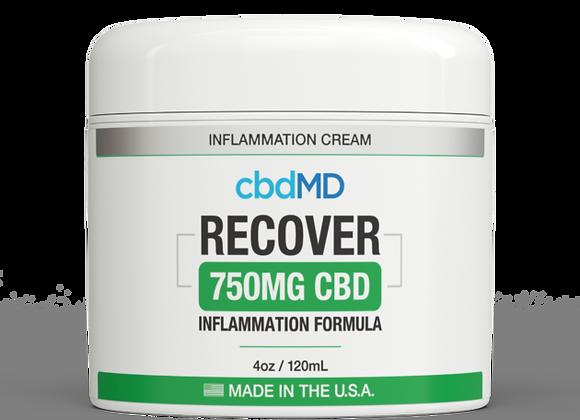 CbdMd CBD Inflammation Formula 4oz Tub 750mg (Broad spectrum)