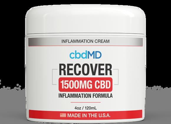 CbdMd CBD Inflammation Formula 4oz Tub 1500mg (Broad spectrum)