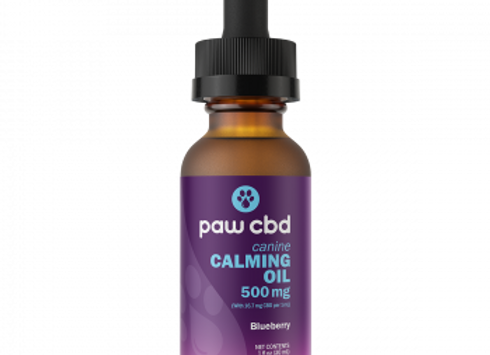 Pet CBD Oil Calming Tinctures for Dogs - Blueberry - 500 mg - 30 mL