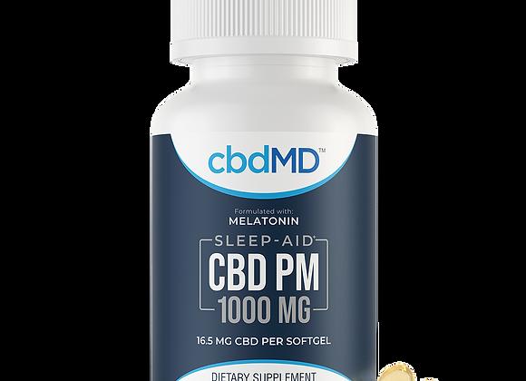 CBD PM Softgel Capsules – 1000 mg – 60 Count