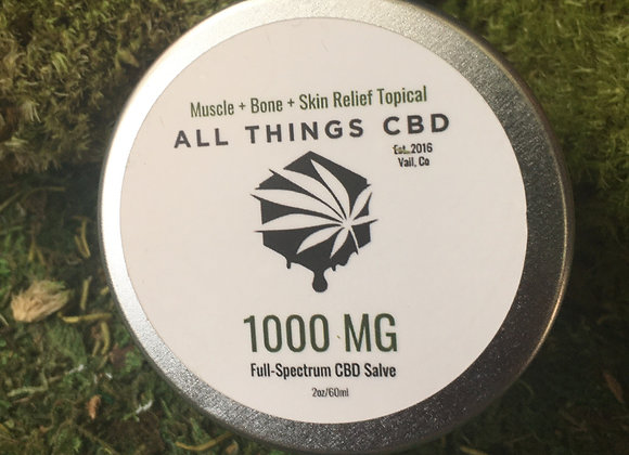 1000mg or full spectrum CBD in 2 ounces