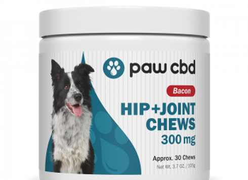 Pet CBD Hip & Joint Soft Chews for Dogs - Bacon - 300 mg - 30 Count
