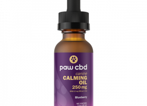 Pet CBD Oil Calming Tinctures for Dogs - Blueberry - 250 mg - 30 mL