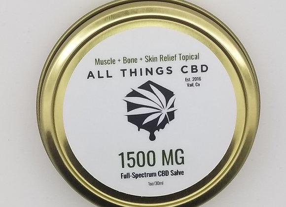 1500mg of full spectrum CBD in 1 ounce