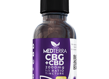 MedTerra CBG + CBD Tincture 2000mg