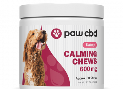 Pet CBD Calming Soft Chews for Dogs - Turkey - 600 mg - 30 Count