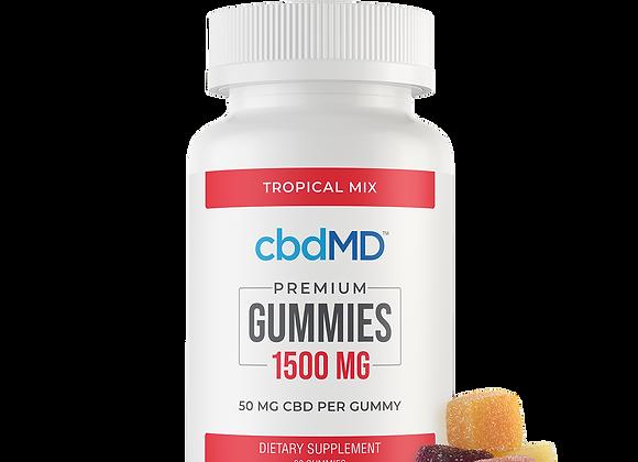 CBD Gummies - 1500 mg - 30 Count