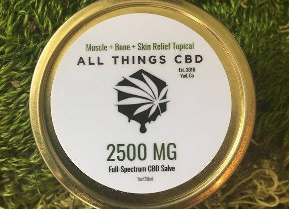 2500mg or full spectrum CBD in 1 ounce