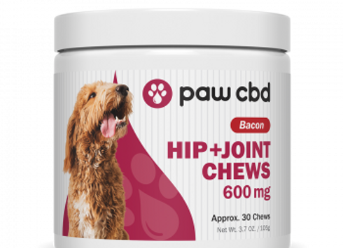 Pet CBD Hip & Joint Soft Chews for Dogs - Bacon - 600 mg - 30 Count