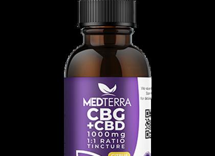 MedTerra CBG + CBD Tincture 1000mg