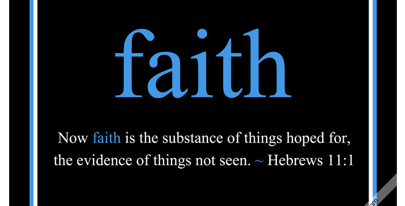 faith ~ Hebrews 11:1 (Canvas - *9 Colors Available*)