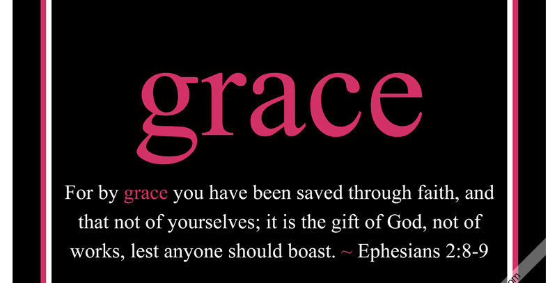 grace ~ Ephesians 2:8-9 (Canvas - *9 Colors Available*)