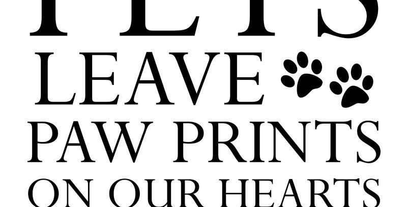PAW PRINTS - PETS (Canvas - *4 Colors Available*)