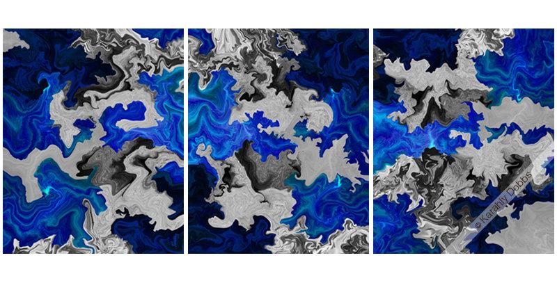 Modern Beauty 29 (16x60 Three Piece (3 - 16x20) - Metal)