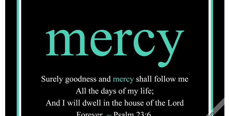 mercy ~ Psalm 23:6 (Canvas - *9 Colors Available*)