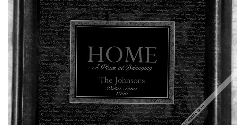 *Personalized* - HOME A Place of Belonging (Custom Framed Print)