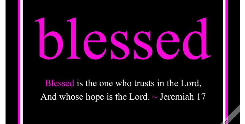 blessed ~ Jeremiah 17 (Print - *9 Colors Available*)