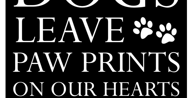 PAW PRINTS - DOGS (Canvas - *4 Colors Available*)