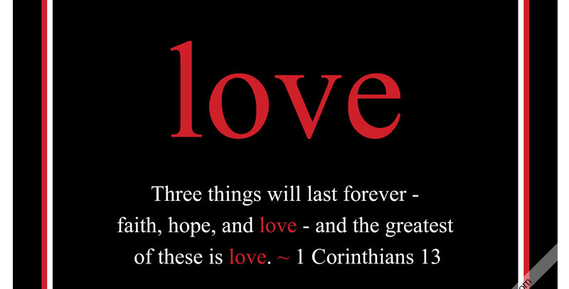 love ~ 1 Corinthians 13 (Canvas - *9 Colors Available*)