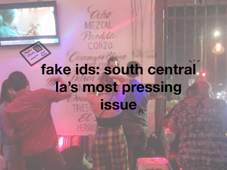 fake ids: south central la's most pressing issue