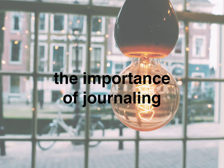 the importance of journaling