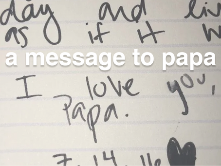 a message to Papa