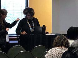 Lisa Harper teaching her workshop