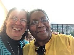 Linda Barkman and Delores Brown