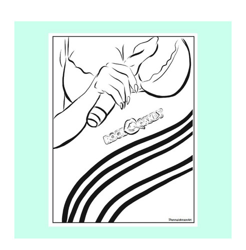 Illustration- Downloadable Coloring Page